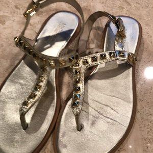 Michael kors gold studded sandals